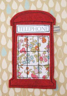 Telephone box mobile phone case