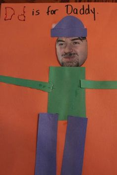 D IS FOR DADDY!!!!!   PHOTO OF DADDY Our Crafts ~N~ Things