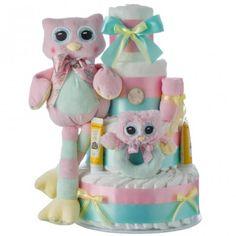 Lil' Owl Diaper Cake 4 Tier