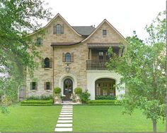 Charming French Country window shutters, balconies, arches, french country, story stones, walkway, texas homes, house facades, sidewalk
