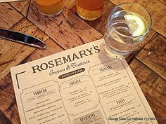 Date night at Rosemary's.