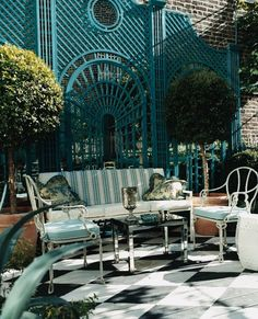 Miles Redd's West Village patio is more glamorous and... - The Foo Dog Ate My Homework