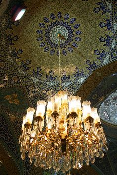Damascus, Syria  A stunning show of craftsmanship the chandelier alone had me, but when you look elsewhere.  Little treasures abound