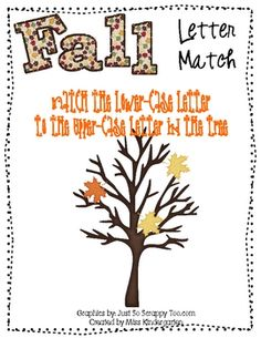 Another alphabet letter match for a file folder game! This one is a fall tree {a great way to incorporate seasons too!} Free!