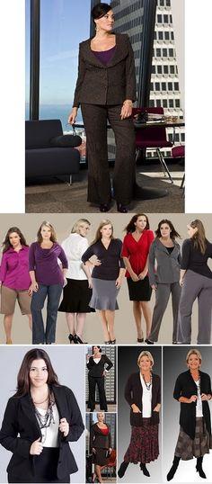 Carla Lopez - Beauty Rock: Moda para Gordinhas - Saiba como se vestir bem. TAILLEURS e TERNINHOS. Use blazer estruturados, elegantes e sóbrios, com o comprimento na altura do quadril, com  um abotoamento abaixo do busto, pode ser apenas um botão. Dê preferência à saia de corte evasê ou reta e sempre calças clássicas, de caimento reto. Pode combinar blazer risca de giz, xadrez discreto, ou  fantasia com saia ou calça lisas. Use sob o blazer regata colorida e mais justa.