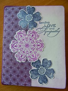 Dianne's cards- SU Mixed Bunch, Flower Shop and Love and Sympathy