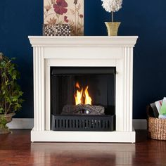 Wexford Petite Convertible Ivory Gel Fireplace