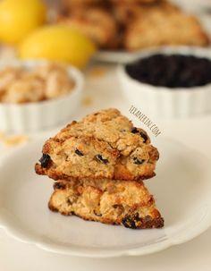 Whole Wheat Blueberry Lemon Ginger Scones