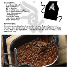 Check out @Chicago White Sox Chef Olegario's Sloppy Joe recipe.