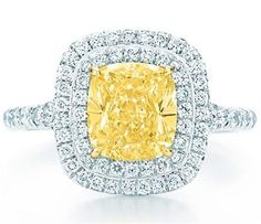 Yellow Tiffany and Co. ring
