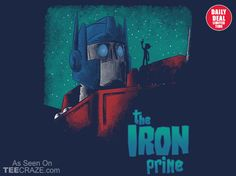 Iron Prime T-Shirt - http://teecraze.com/daily-deal-2/ -  Designed by TeeKetch    #tshirt #art #fashion #tee