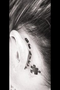 Autism tattoo! Always believing in those individuals.