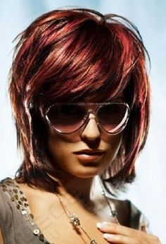 brown red hair color photo Brown Red Hair Color Ideas and wish I could pull off this short hair cut