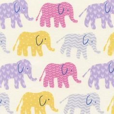 Fabric... Organic Elephants in Candy by Timeless Treasures
