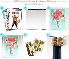 DIY: Accordion Picture Frame From DVD Cases