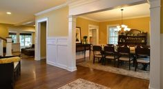 Stone Creek Photo:  I like this architectural detail going from foyer into living area... with doorway type feel