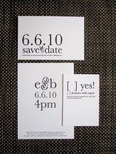 Type focus wedding invite