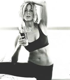 Jennifer Aniston Jennifer Aniston Jennifer Aniston! I have this hanging on my fridge for motivation!