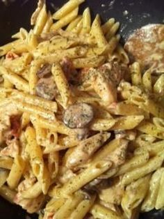 Spicy Chicken & Shirmp Recipe from Johnny Carino's ! My favorite pasta dish everrr.. Tried it and it tastes the same!