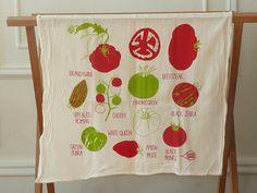 Tomato Tea Towel by claudiagpearson on Etsy, $16.00