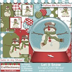 Let it Snow by CraftBliss. Visit www.craftbliss.com for freebies and fun. #craftbliss