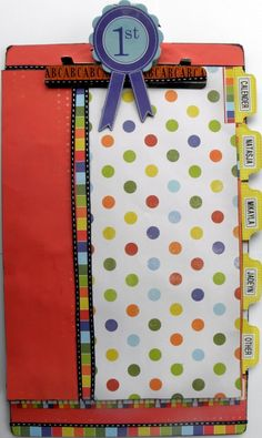 Love this clipboard idea with files....could use this for my RTI kiddos or fluency probes