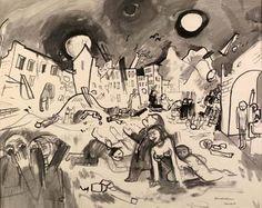 draw, holocaust art, felix nussbaum