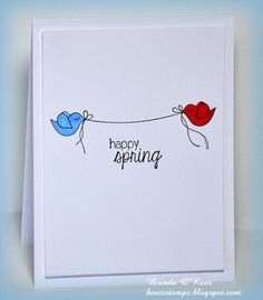 Adorable CAS Spring is Coming Card by TE Fan Benzi! #Cardmaking, #Spring, #CAS