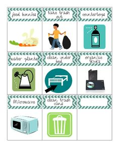 Chore cards to use to calculate allowance or just be sure the chores are getting done.