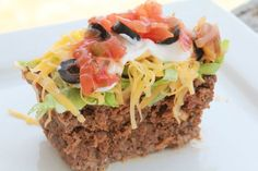 Mexican meatloaf:  Per 1/8th serving (sans added toppings and condiments): Calories: 507, Carbohydrates: 4.7g, Fiber: 1g, Net Carbohydrates: 3.7g, Protein: 33, Fat: 29g.