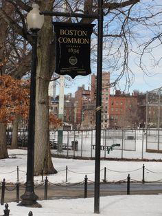 Boston Common in winter