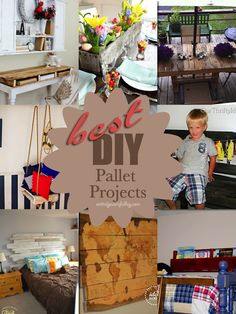 Best DIY Pallet Projects. entirelyeventfulday.com #diy #pallet