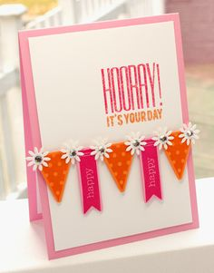 MFT Die-namics Bitty Banners and flowers card