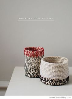 red thread rope coil vessels tutorial