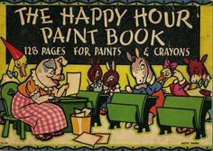 paint book, hour paint, color book, children book