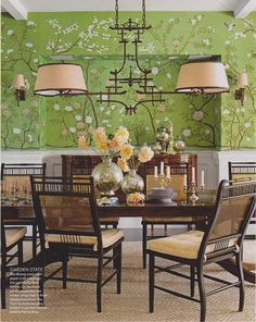 green dining room - Google Search