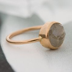 rose gold & gray diamond