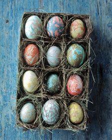 Marbleized Easter Eggs
