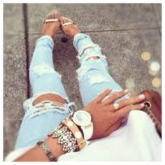 Cute ripped jeans