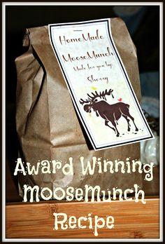 Award Winning Moose Munch Recipe.  Great for Gifting