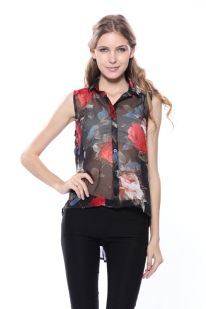 new label Izabel does florals and sheer - two trends in one!