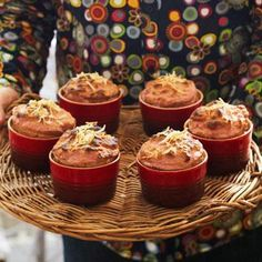 Fresh Fruit Yogurt Souffles