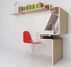 compact office....