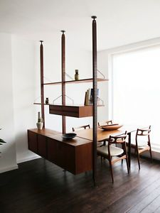 :: Danish teak room divider by Poul Cadovious (1960's) ::