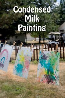 Life with Moore Babies: Condensed Milk Paintings
