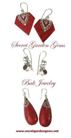 #Bali Earring Collection from www.secretgardengems.net 2012 #SYLink