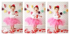 1 year old Valentine's Day photography