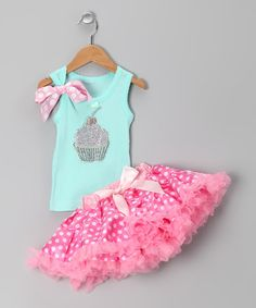 Take a look at this Teal Cupcake Tank & Pettiskirt - Infant, Toddler & Girls by So Girly & Twirly on #zulily today!