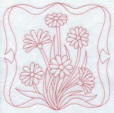 Daisies (Redwork)