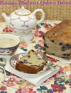 Banana Blueberry Quinoa Bread via @Food Done Light   Christie Daruwalla/ // #banana #blueberry #quinoa #bread #bananabread